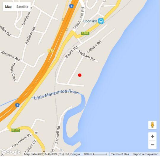 Map Shangrila 808 in Amanzimtoti  South Coast (KZN)  KwaZulu Natal  South Africa