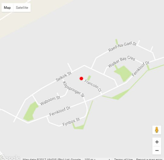 Map Francolin Manor in Hermanus  Overberg  Western Cape  South Africa