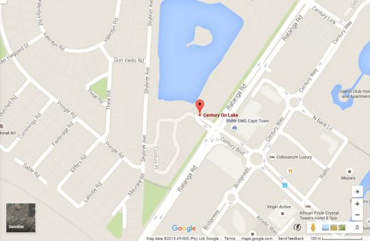 Map Century On Lake B6 in Century City  Blaauwberg  Cape Town  Western Cape  South Africa
