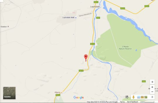 Map Sabrisa Romantic Getaway in Lephalale  Waterberg  Bushveld  Limpopo  South Africa