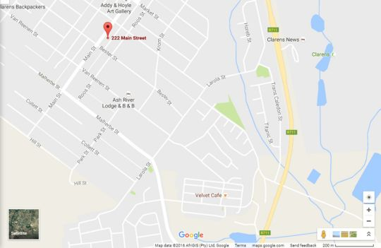 Map The Attic in Clarens in Clarens  Thabo Mofutsanyana  Free State  South Africa