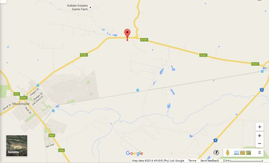 Map Modimolle Holiday Resort in Modimolle  Nylstroom  Bushveld  Limpopo  South Africa