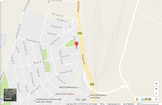 Map Kosh B&B in Klerksdorp  Southern (NW)  North West  South Africa