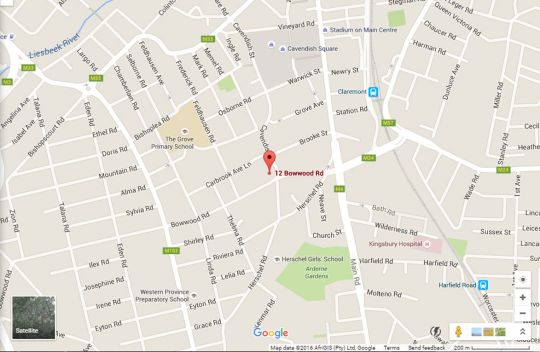 Map Apartment 35, Herschel Court in Claremont  Southern Suburbs (CPT)  Cape Town  Western Cape  South Africa