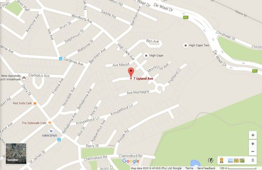 Map Upland Ave 7C in Gardens  City Bowl  Cape Town  Western Cape  South Africa