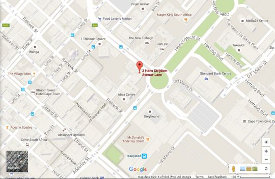 Map The Fountains 914 in Cape Town CBD  City Bowl  Cape Town  Western Cape  South Africa