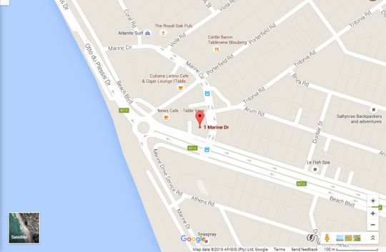 Map Dolphin Beach A09 in Bloubergstrand  Blaauwberg  Cape Town  Western Cape  South Africa