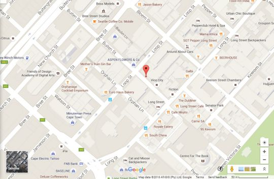 Map Flatrock Suites 804 in Cape Town CBD  City Bowl  Cape Town  Western Cape  South Africa