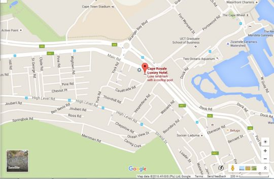 Map Cape Royale 705 in Green Point  Atlantic Seaboard  Cape Town  Western Cape  South Africa