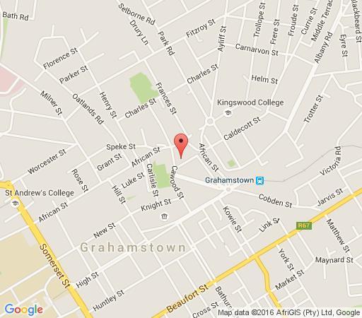 Map Aries Guest in Grahamstown  Cacadu (Sarah Baartman)  Eastern Cape  South Africa