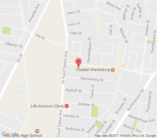 Map Acacia Guesthouse in Klerksdorp  Southern (NW)  North West  South Africa