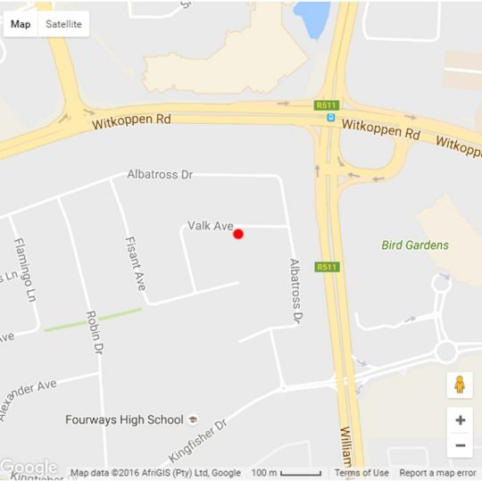 Map Six Valk Avenue Self-Catering Guest House in Fourways  Sandton  Johannesburg  Gauteng  South Africa