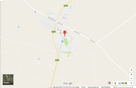 Map Milton\'s Guesthouse in Mookgopong (Naboomspruit)  Bushveld  Limpopo  South Africa