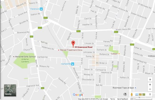 Map The John Bauer Pottery Studio and B&B in Claremont  Southern Suburbs (CPT)  Cape Town  Western Cape  South Africa