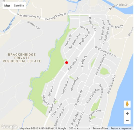 Map Clift Cottage in Plettenberg Bay  Garden Route  Western Cape  South Africa