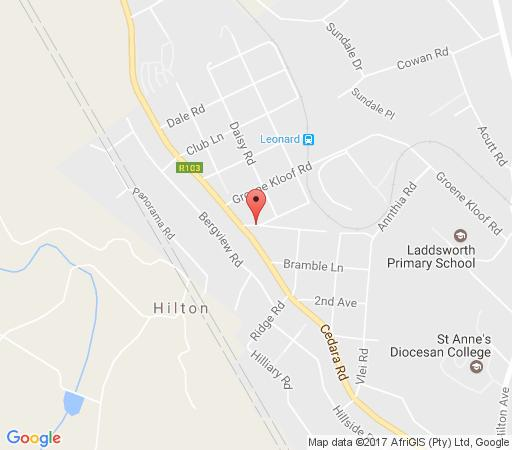 Map Hilton Haven in Hilton  Pietermaritzburg  Midlands  KwaZulu Natal  South Africa