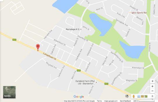 Map Slaley Beach Cottage - Langebaan in Langebaan  West Coast (WC)  Western Cape  South Africa