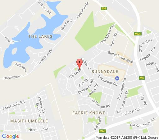Map Waterline in Noordhoek  False Bay  Cape Town  Western Cape  South Africa