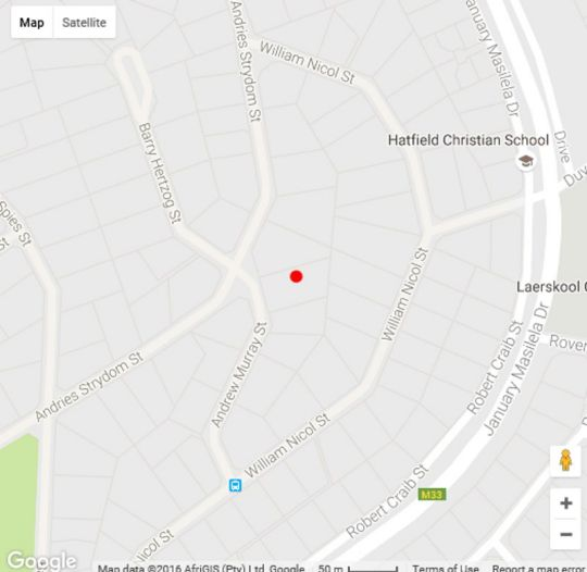 Map Lavenders at Constantia Guest House in Constantia Park  Pretoria East  Pretoria / Tshwane  Gauteng  South Africa