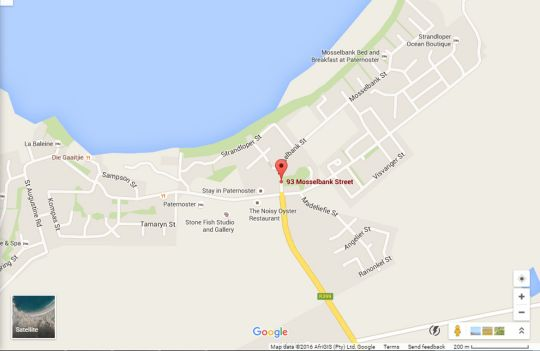 Map De Linden Boutique Guest House in Paternoster  West Coast (WC)  Western Cape  South Africa