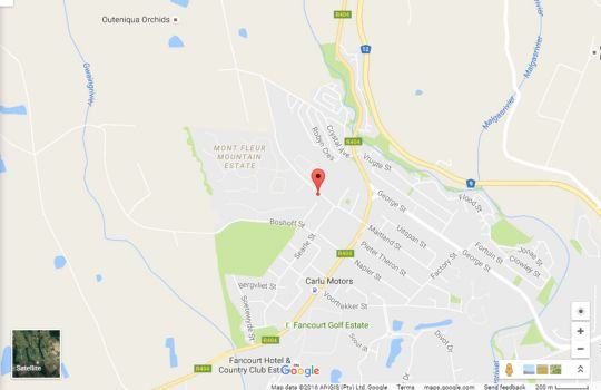 Map Maitland Meander in George  Garden Route  Western Cape  South Africa