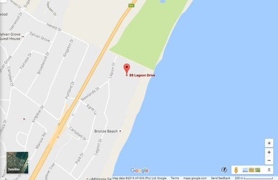 Map Beachbreak Holiday Letting in Umhlanga Rocks  Umhlanga  Northern Suburbs (DBN)  Durban and Surrounds  KwaZulu Natal  South Africa