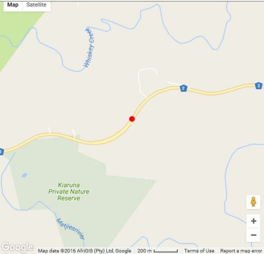Map Ingwe Forest Adventures & Cabins in Plettenberg Bay  Garden Route  Western Cape  South Africa