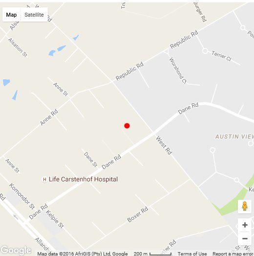 Map Glen Rest Country Lodge & Events in Glen Austin AH  Midrand  Johannesburg  Gauteng  South Africa