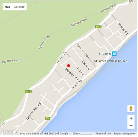 Map Pentrich House in St James  False Bay  Cape Town  Western Cape  South Africa