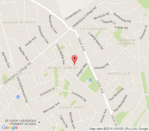 Map Majorca House in Somerset West  Helderberg  Western Cape  South Africa