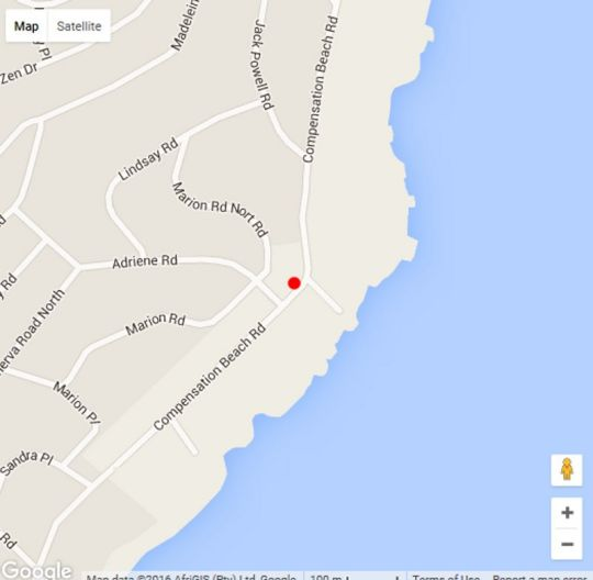Map Frinton on Sea 4 in Ballito  North Coast (KZN)  KwaZulu Natal  South Africa