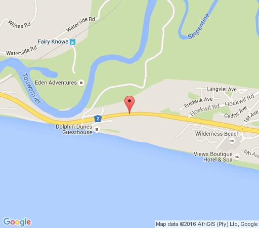 Map Ichibi Lakeside Lodge in Wilderness  Garden Route  Western Cape  South Africa