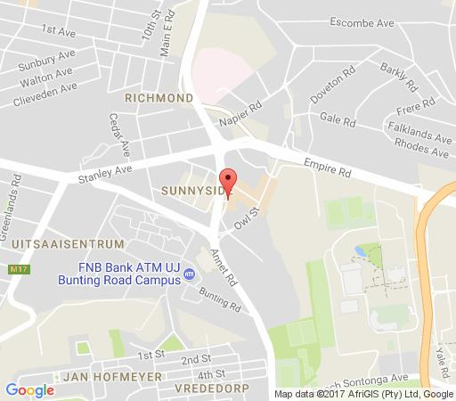 Map  QSL ON 44 Boutique Hotel in Auckland Park  Northcliff/Rosebank  Johannesburg  Gauteng  South Africa