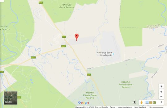 Map Cheetah Paw Eco Lodge in Hoedspruit  Valley of the Olifants  Limpopo  South Africa