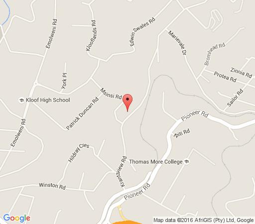 Map  The Old Stone House in Kloof  Western Suburbs (DBN)  Durban and Surrounds  KwaZulu Natal  South Africa