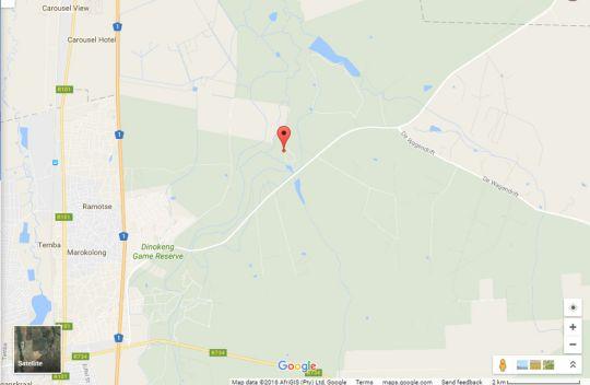 Map De Kleine Serengeti Game Lodge in Hammanskraal  Metsweding District  Gauteng  South Africa