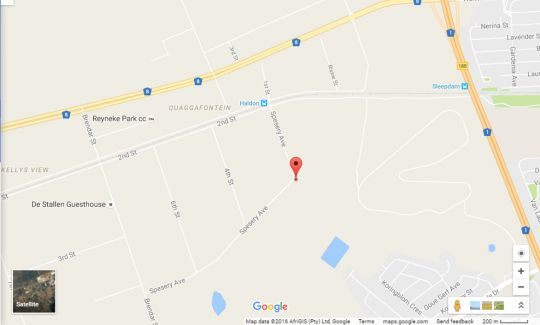 Map Haldon Estates in Bloemfontein  Mangaung  Free State  South Africa
