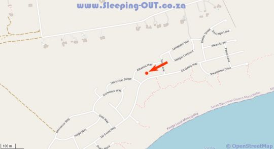 Map 134 On Da Gama in Cape St. Francis  Cacadu (Sarah Baartman)  Eastern Cape  South Africa
