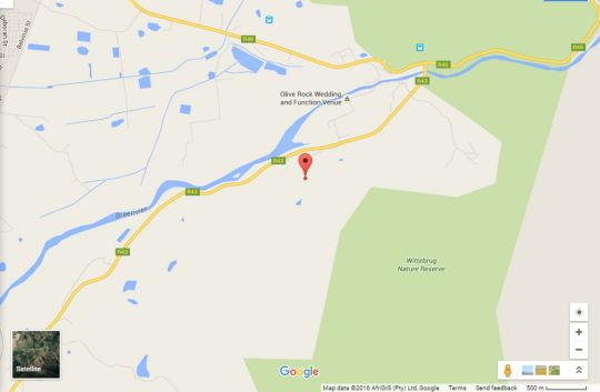Map Big Sky Cottages in Wolseley  Breede River Valley  Western Cape  South Africa