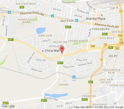 Map Palm Continental Hotel in Mayfair  Johannesburg CBD  Johannesburg  Gauteng  South Africa