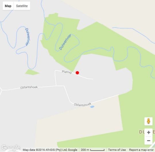Map Shangrila Manor  in Wilderness  Garden Route  Western Cape  South Africa