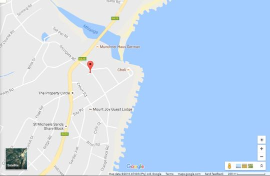 Map Sunrise Cottage 1 in Shelly Beach  South Coast (KZN)  KwaZulu Natal  South Africa