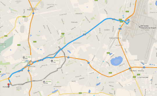 Map Westmoreland Lodge in Kensington (JHB)  Johannesburg East  Johannesburg  Gauteng  South Africa