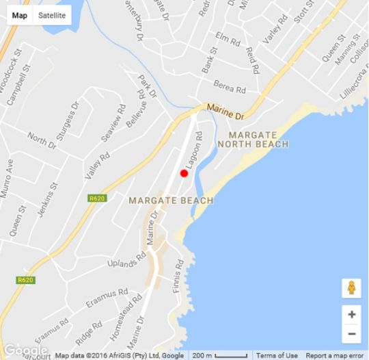 Map Colonial Sands 101 in Margate  South Coast (KZN)  KwaZulu Natal  South Africa