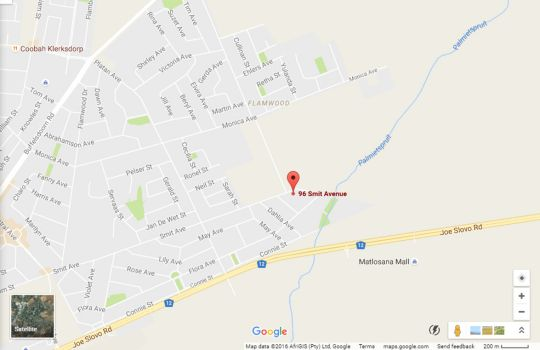 Map Monsieur Devan Guest Accommodation in Klerksdorp  Southern (NW)  North West  South Africa