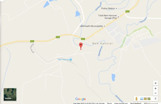 Map The Traveller\'s Rest in Wartburg  Midlands  KwaZulu Natal  South Africa