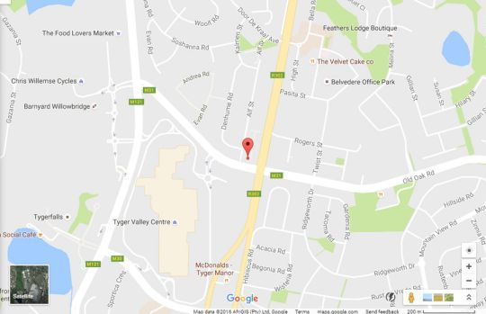 Map DCS Self Catering Accommodation Kenridge No. 2  in Durbanville  Northern Suburbs (CPT)  Cape Town  Western Cape  South Africa