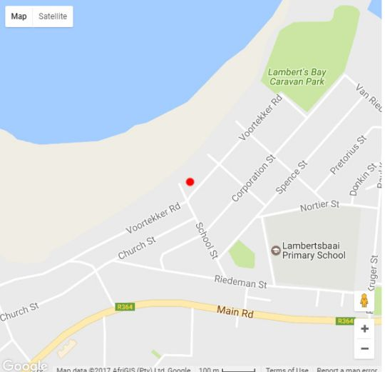 Map Eagle\'s Nest Guest House in Lambert's Bay  West Coast (WC)  Western Cape  South Africa