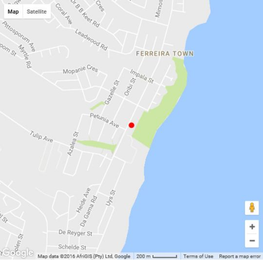 Map On The Beach in Jeffreys Bay  Cacadu (Sarah Baartman)  Eastern Cape  South Africa