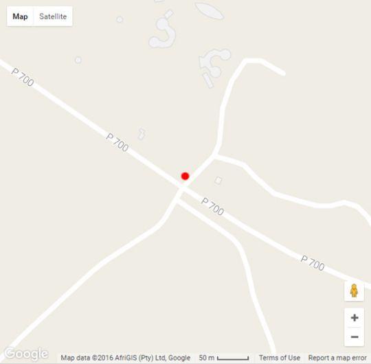 Map uMuzi Ondini in Ulundi  Zululand  KwaZulu Natal  South Africa